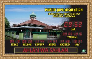 Jual Jam Digital Masjid Di Kebon Kosong Jakarta Pusat