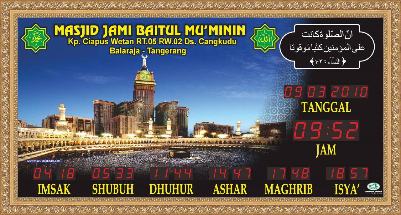 toko jam digital masjid di bekasi