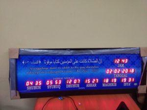 Jual jam digital masjid Bantar Gebang
