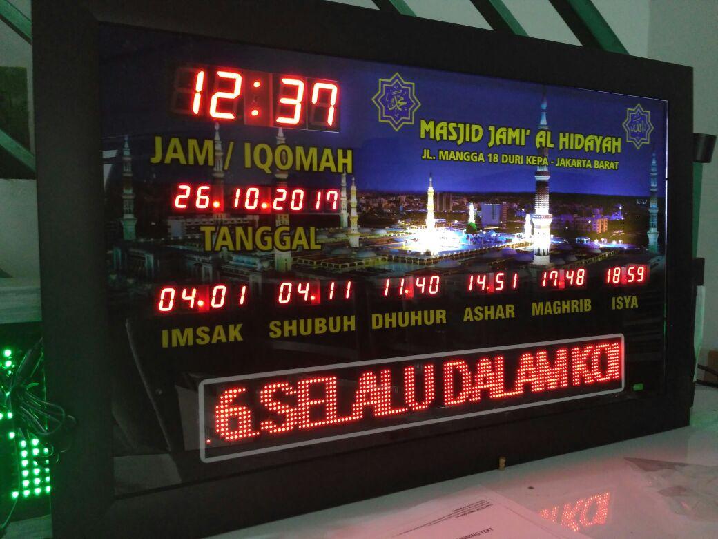 Jual Jam Digital Masjid Di Pondok Kelapa Jakarta Timur