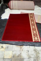 karpet masjid Mecca merah polos